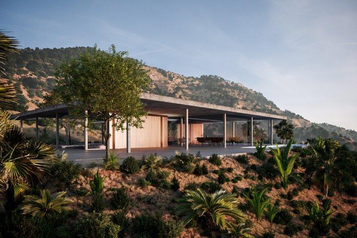 Въпреки строгостта на материалите, къщата е екологична.