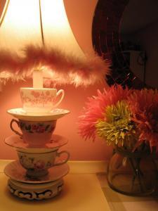teacup lamp pink